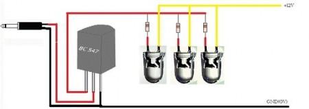 caboconvst2mono21 450x159 Leds Rítmicos utilizando transistores NPN