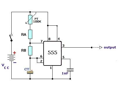 , Estrobo de leds com 555 e transistor BC547