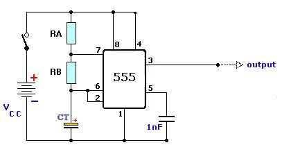 circuito oscilador Estrobo de leds com 555 e transistor BC547 Iluminação