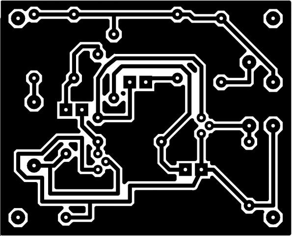 TESTE IMPRESSÃO 595x481 Iniciante   Teste bateria automotiva   Agora com desenho da PCB led circuito Automotivo