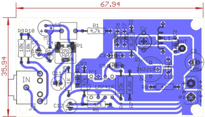 Placa Raido-X Transmissor De Fm Com 2N2218 Para Celular