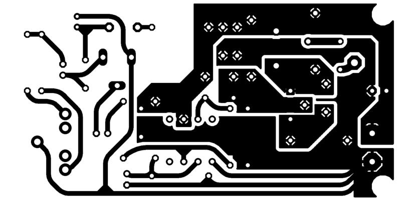 Placa Lado Do Cobre Circuito De Transmissor De Fm Com 2N2218 Para Celular
