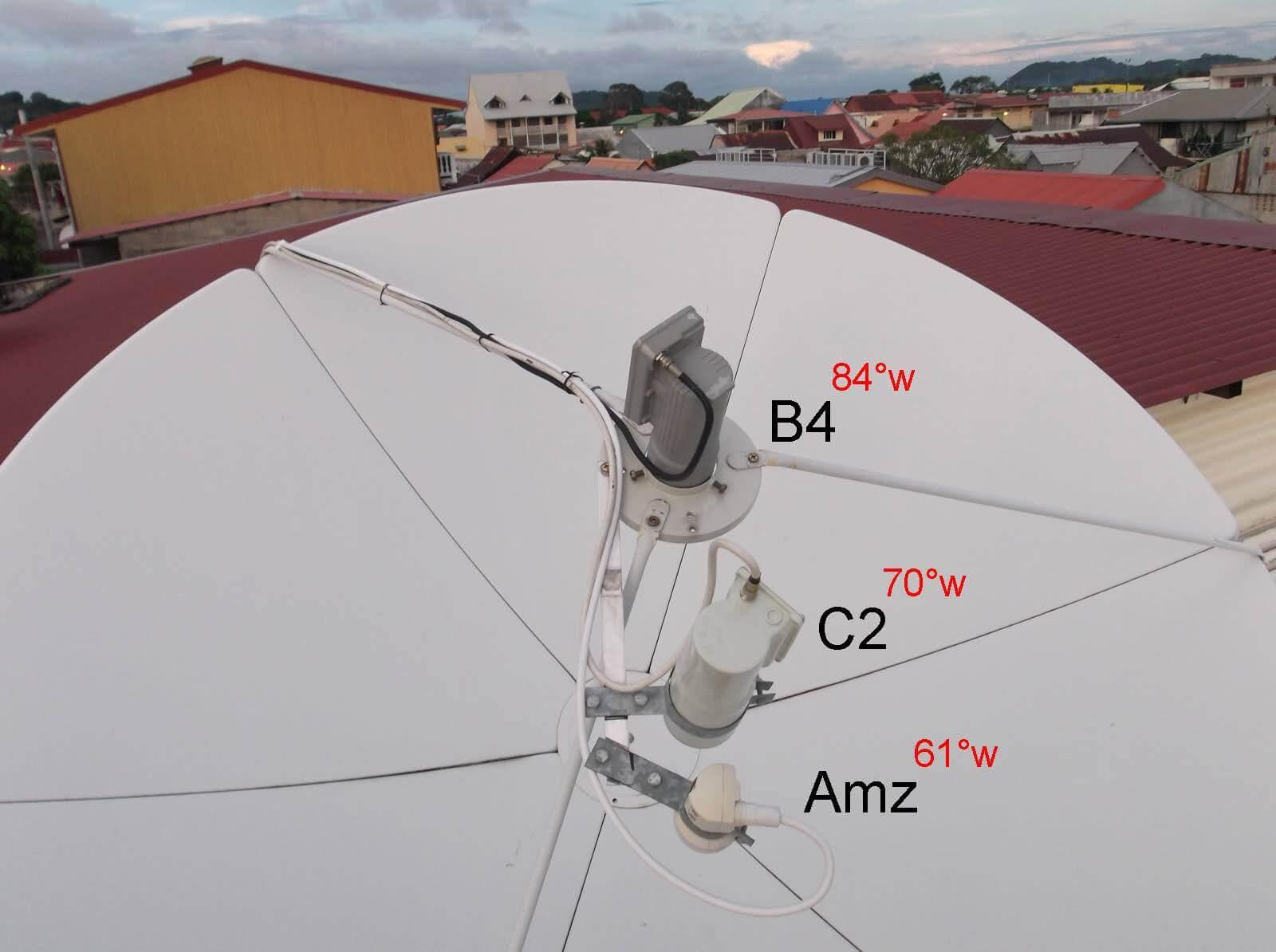 kit carona b4 c2 amazonas c3 intelsat hispasat