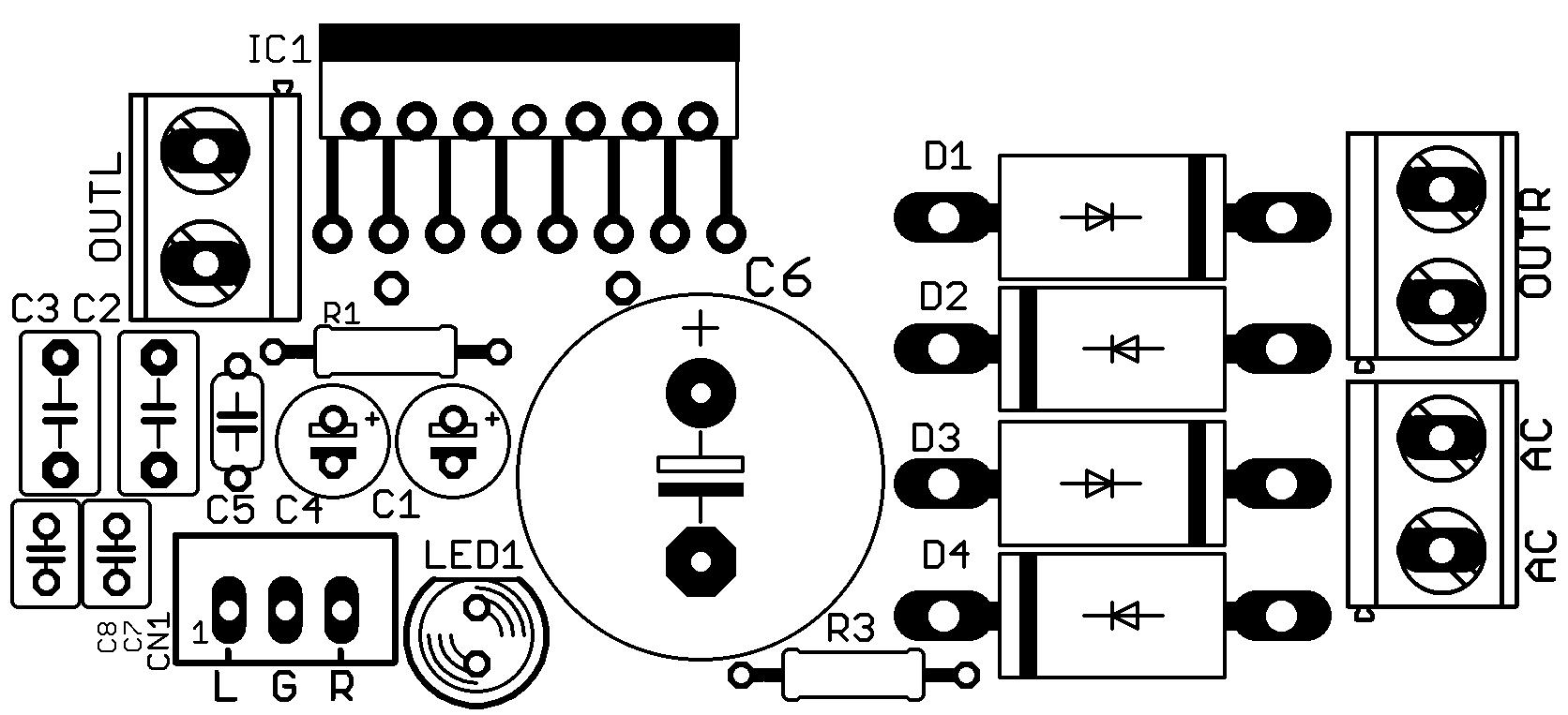 amplificador 2 1 com subwoofer com ci tda7379 tda7377