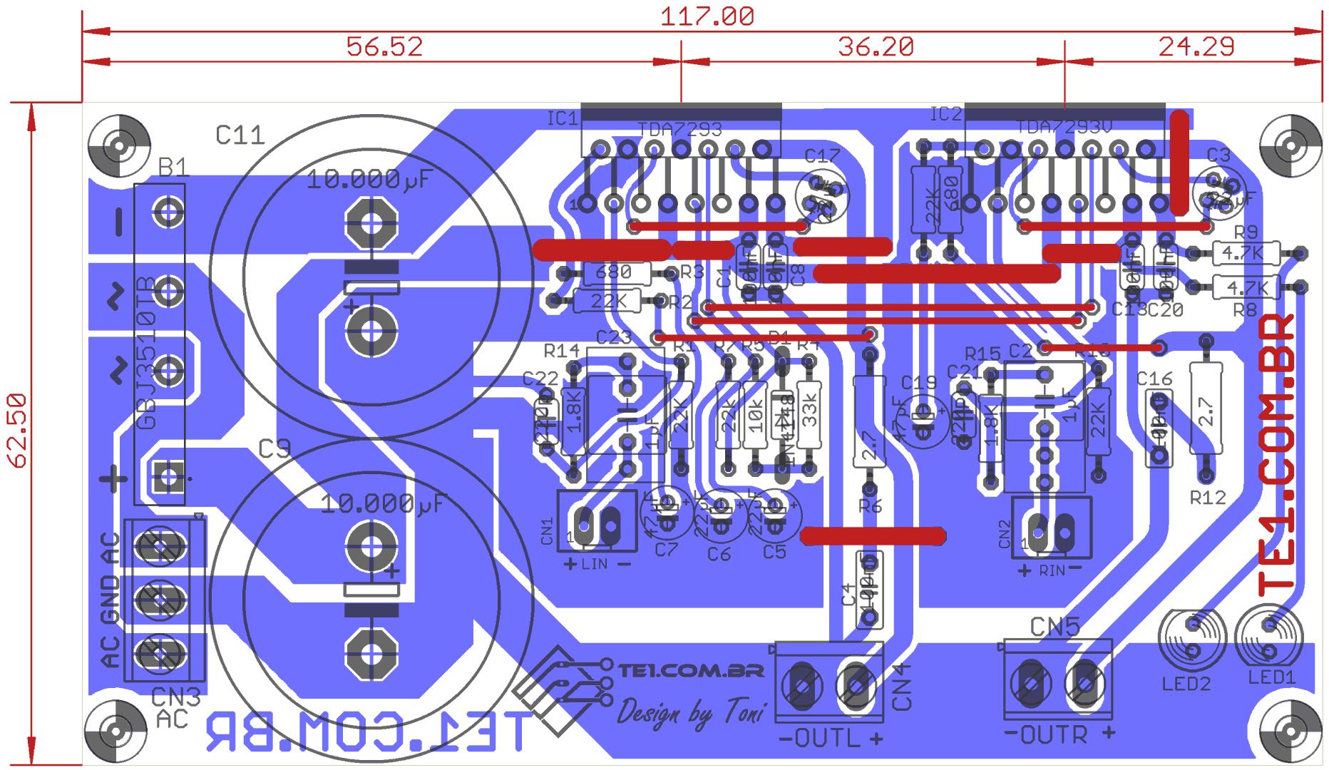 Circuito De Amplificador De Audio De 1000w Pdf : Amplificador de potência estéreo ci tda com fonte