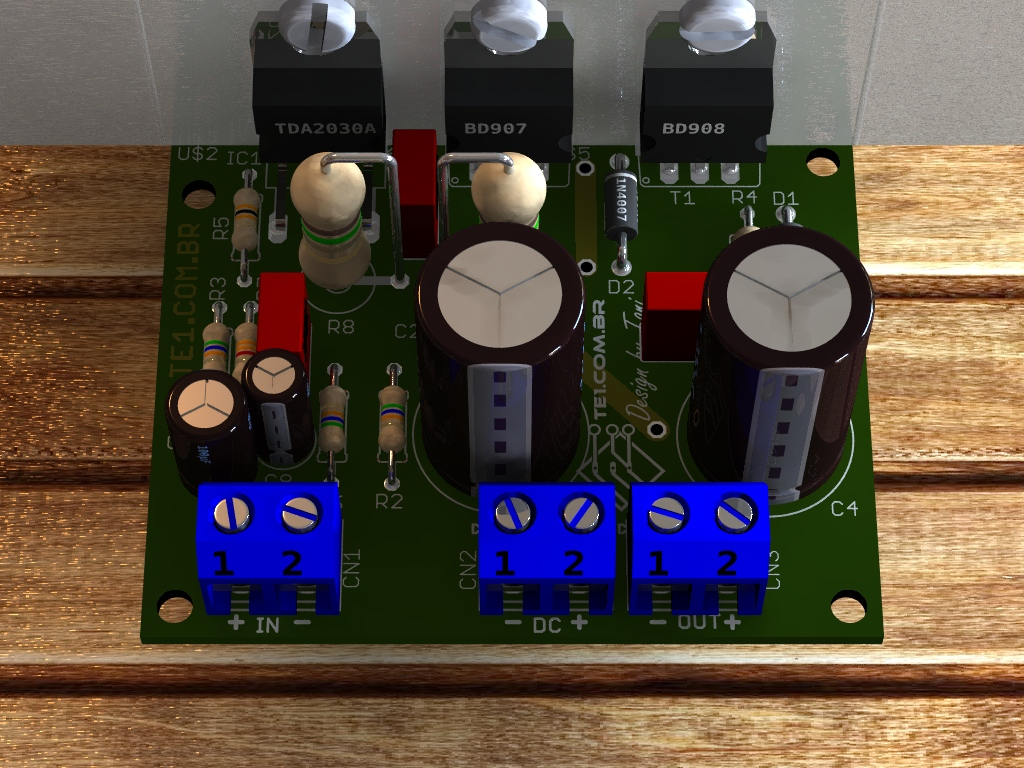 amplificador transistor potencia audio som