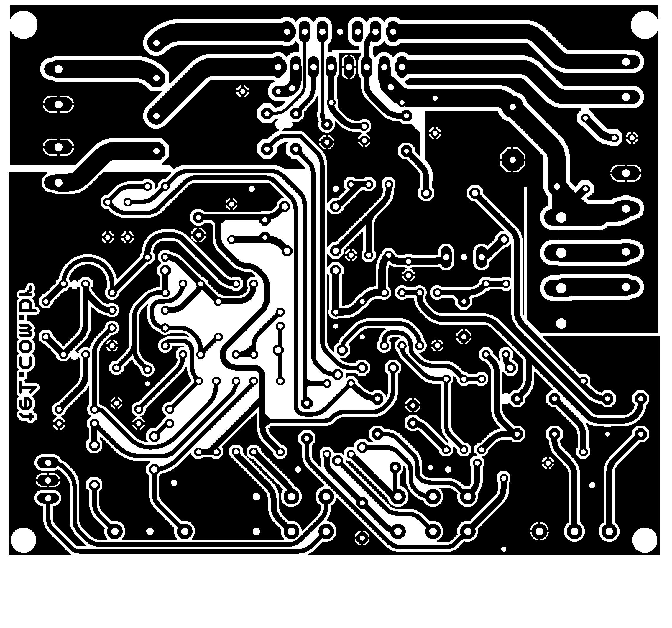 tda7377 2.1 pcb 30 watts amplificador potencia 1 Circuito de amplificador de potência de áudio 2.1 com TDA7377   Estéreo + Subwoofer tda Pré amplificadores Circuitos Áudio