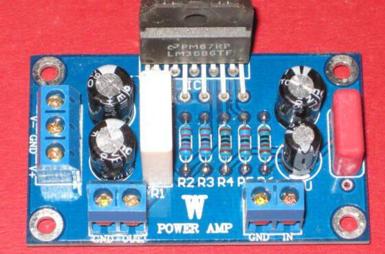 Lm3886 amplificador audio potencia gainclone