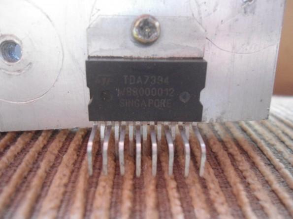 TDA7394 no dissipador