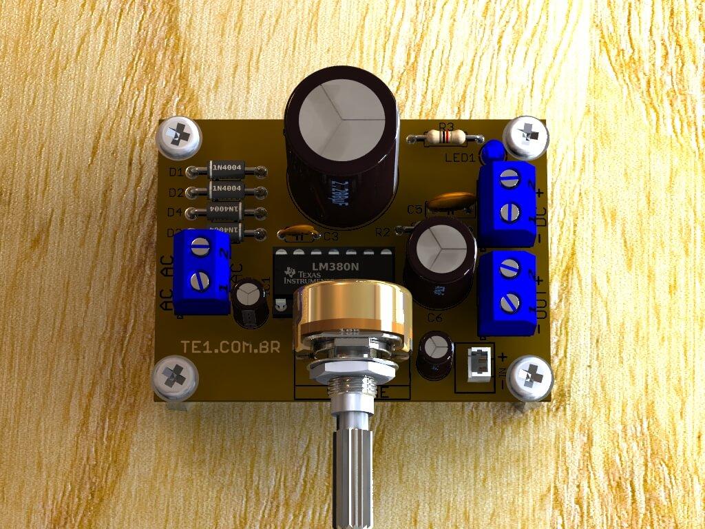 circuito amplificador audio ci lm380