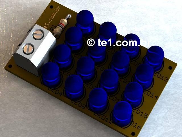 Placa-led-azul-estrobo-placa-circuito