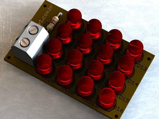 Placa-led-vermelha-estrobo-luz-estroboscopica