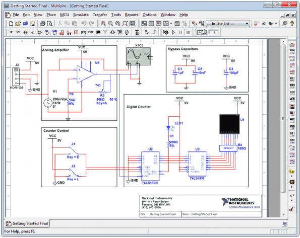 Circuit Design Suite 13 NI Multisim Professional Edition download 595x473 Download do Circuit Design Suite 13 NI Multisim + Ultiboard Teste e medida Software de eletrônica Simulador Multisim Microcontroladores Download Desenho de esquemas Desenho circuito impresso
