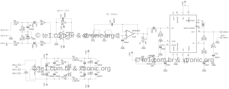 Circuito de amplificador para Subwoofer com TDA7294 1.0 | Te1