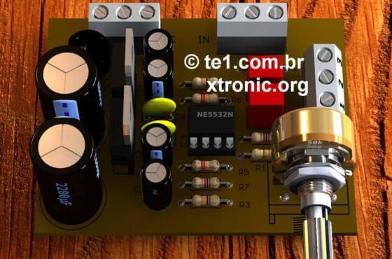 pre amplificador estereo ne5532 op amp circuito