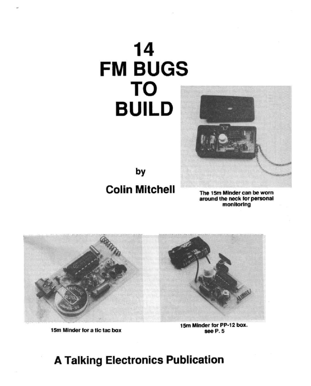, Download livro com 14 micro transmissores de FM para montar