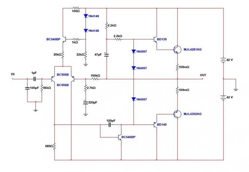 Mini-Strong-Power-Amp Mini Strong Power Amplifier - 100W Rms Esquema Do Amplificador