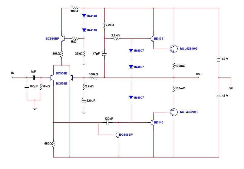 Mini Strong Power Amplifier 100w Rms Te1