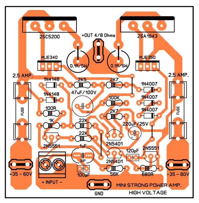 , Mini Strong Power Amplifier – 100W RMS