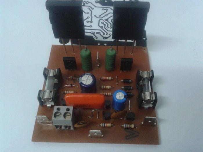 Mini-Strong-Power-Amp Mini Strong Power Amplifier - 100W Rms Placa Montada Com 2Sc5200 E 2Sc1943