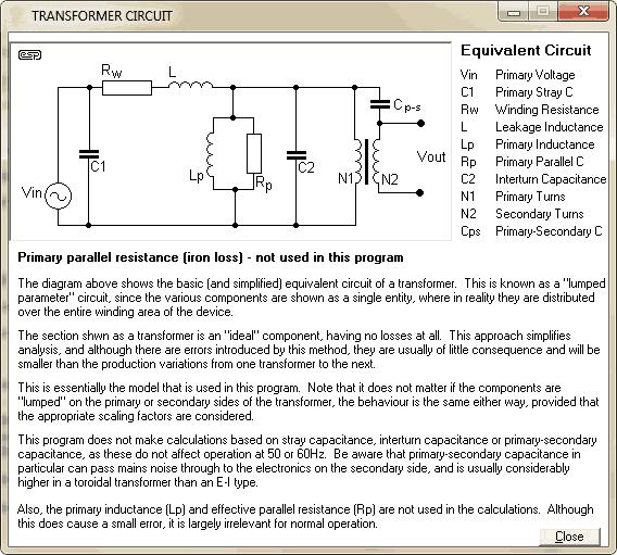ESP Transformer Calculator 2 Download Transformer   análise do transformador e circuito retificador Transformador Download Calculadoras