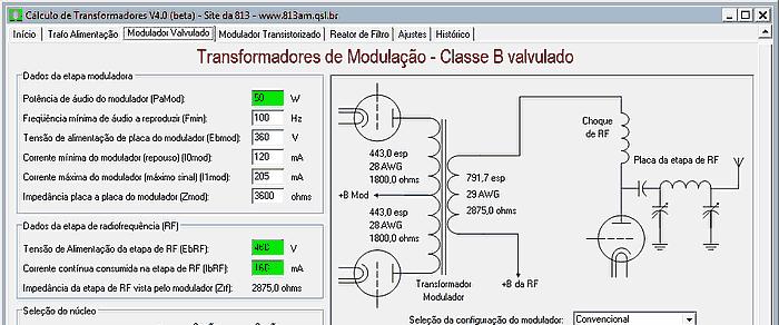 Programa para Cálculo de Transformadores Download Programa para Cálculo de Transformadores v 4.0 Transformador Software de eletrônica Download Calculadoras
