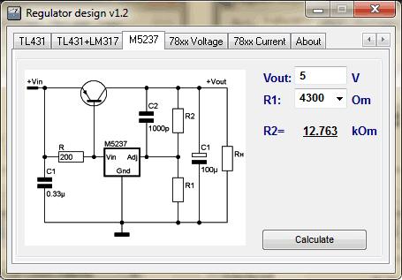 Regulator Designer m5237 Download Regulator Designer   Cálculos de reguladores de tensão