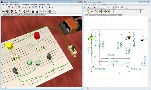 edi5 multi Download Edison 5 Laboratório Multimídia simulação eletrônica Virtuais Software de eletrônica Simulador Download Curso