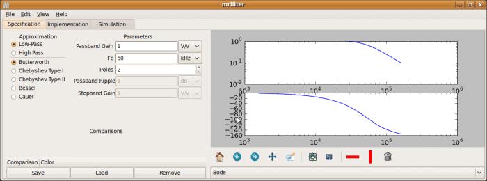 mrfilter start 700x260 Download Mr. Filter Assistente para filtros ativos analógicos Simulador linux Desenho de filtros