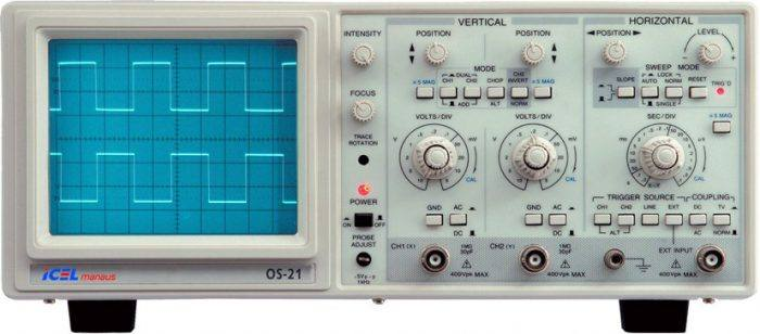 osciloscopio analogico grande 700x308 Baixar Apostila de Osciloscópio   Como utilizar e como funciona Tutoriais Teste e medida pdf Download Curso Apostilas