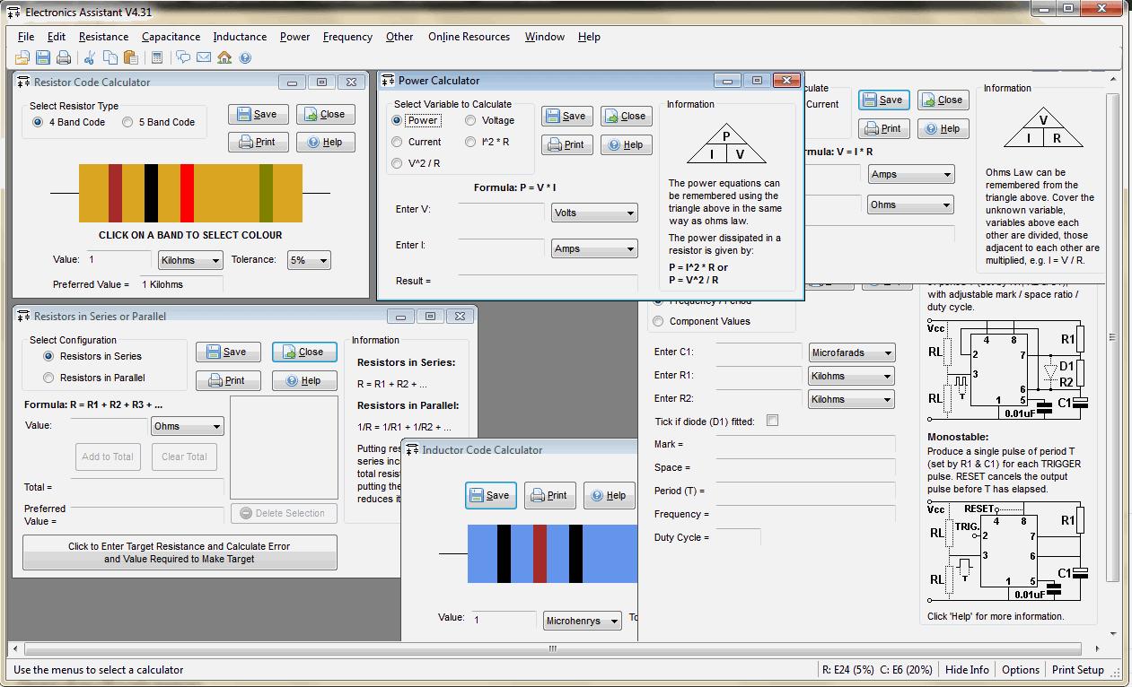 , Download Electronics Assistant V4.1 – Calculadora para eletrônica