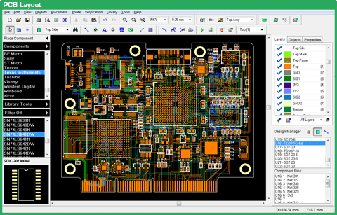 PCB Layout diptrace Download DipTrace programa editor de PCI em português Download Desenho circuito impresso