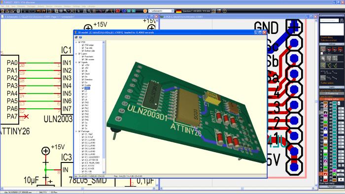 TARGET 3001 GUI 700x394 Download Target 3001  CAD para desenho de PCI e simulação Simulador Multisim Download Desenho de esquemas Desenho circuito impresso