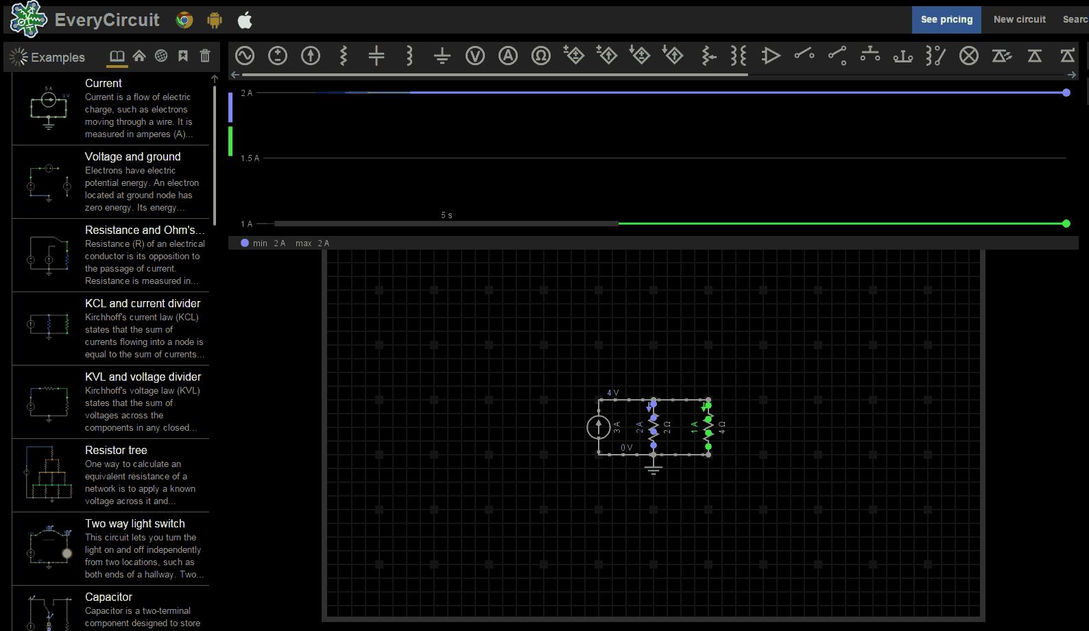 d9b941de73 EveryCircuit 700x406 Os 10 melhores simuladores de circuito online Melhores  simuladores de circuitos online Software de