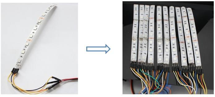 cabo dupont Como fazer um Scroll Bar de leds com Arduino Nano Tutoriais Microcontroladores led Iluminação Circuitos