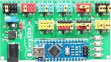 placa de controle Como fazer um Scroll Bar de leds com Arduino Nano Tutoriais Microcontroladores led Iluminação Circuitos