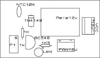 Placa silkscreen 1   sensor de temperatura usando ntc – acionando ventoinhas