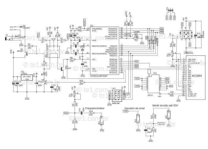transistor tester mega328 mede esr capacitor resistor diodo mosfet indutor 1 transistor Atmega, capacitor, Circuitos, esr, led, microchip, mosfet, multímetro, Teste-e-medida, transistor, Tutoriais Transistor tester Mega328 mede ESR, capacitor, Mosfet