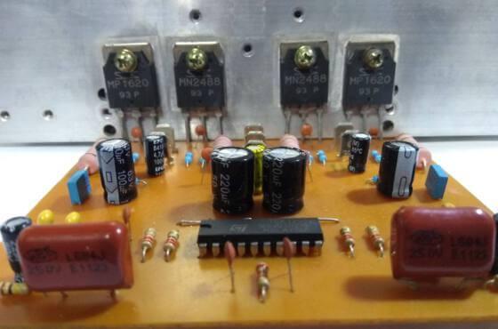 amplificador com bias automático Audio Amplifier TDA7250 Áudio Amplificador com Bias Automático com CI TDA7250