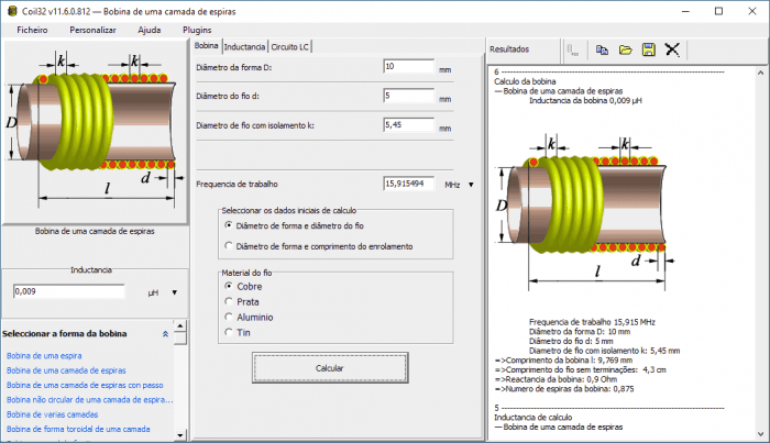 download software calculo bobinas coil32 indutor m 1 700x403 Download Software cálculo bobina Coil32 indutor Transmissores e RF Teste e medida placa de circuito impresso indutor Download Dicas Calculadoras bobina