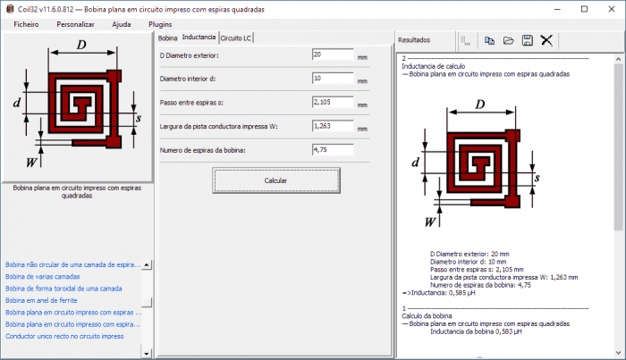 download software calculo bobinas coil32 indutor m 700x403 Download Software cálculo bobina Coil32 indutor Transmissores e RF Teste e medida placa de circuito impresso indutor Download Dicas Calculadoras bobina