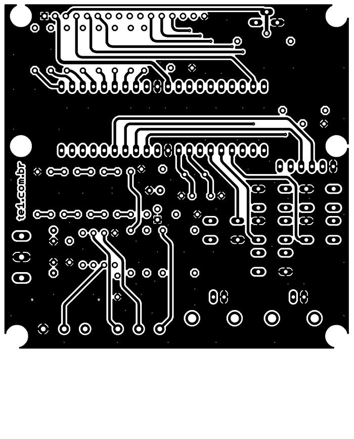 Sugestão de placa de circuito impresso para o gerador de funções