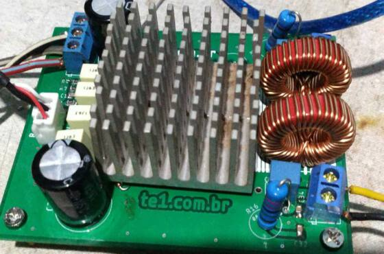 Circuito amplificador ci tda8954 classe d 2x 210w