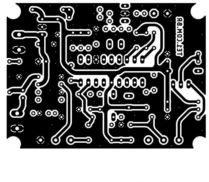 Sugestão de placa de circuito impresso para rádio receptor fm