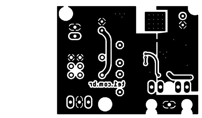 Sugestão de placa de circuito impresso parte inferior