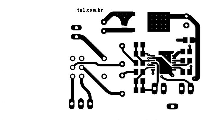 Max4410 sugestão de placa de circuito impresso topo