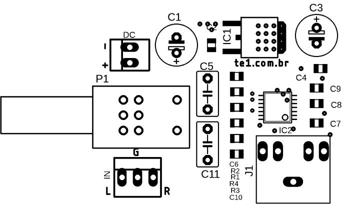 Max4410sugestão de placa de circuito impresso silk max4410