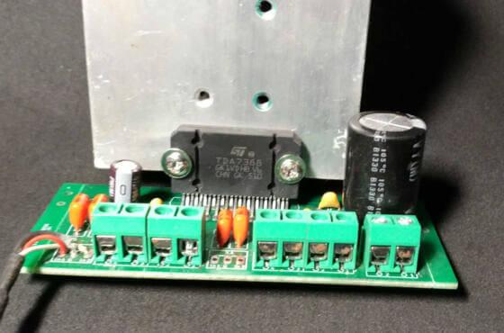 Amplificador com CI TDa7850 TDA7388 ou equivalente