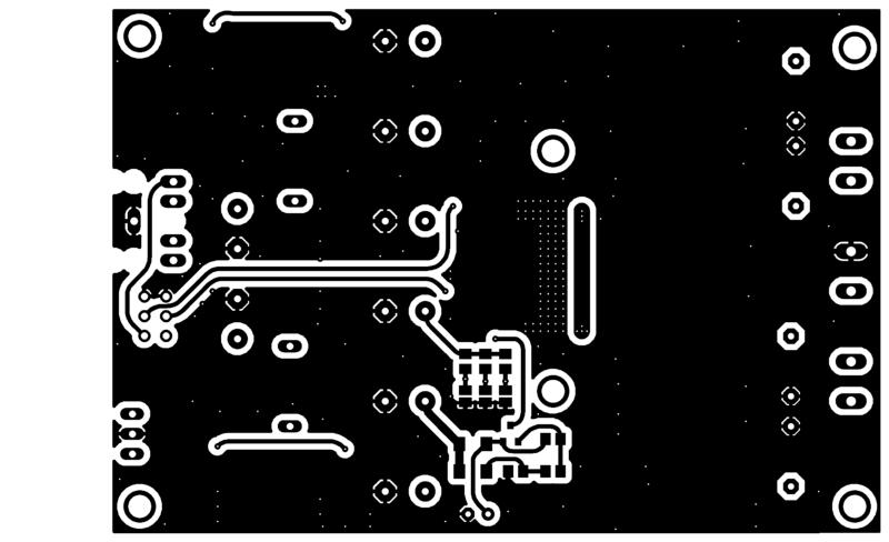 Placa de circuito impresso pcb tpa3116 - bottom-layer
