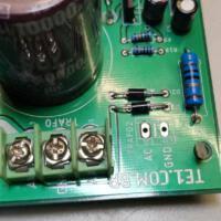 Fonte de alimentação detalhe da montagem dos diodos